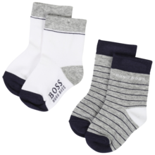 Hugo Boss Socks 2-pack Grey/White