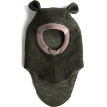 Huttelihut Balaclav Dark Green Wool Ears Limited Edition