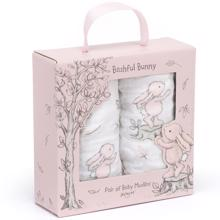Jellycat Bashful Bunny Muslin Cloths Light Rose