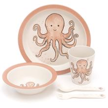 Jellycat Odell Octopus Bamboo Dinner Set