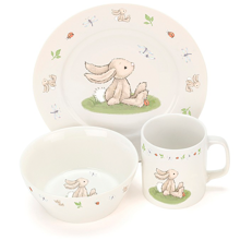 Jellycat Bashful Bunny Bowl, Cup & Plate