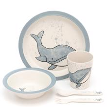 Jellycat Wilbur Whale Bamboo Dinner Set