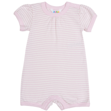 Joha Summersuit Stripes Rosa Short Sleeves