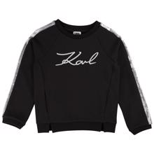 Karl Lagerfeld Kids Girl Romantic Sparkle Sweatshirt Black