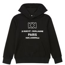 Karl Lagerfeld Kids Black Hooded Sweatshirt