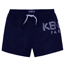 Kenzo Logo Bathing Trunks Navy