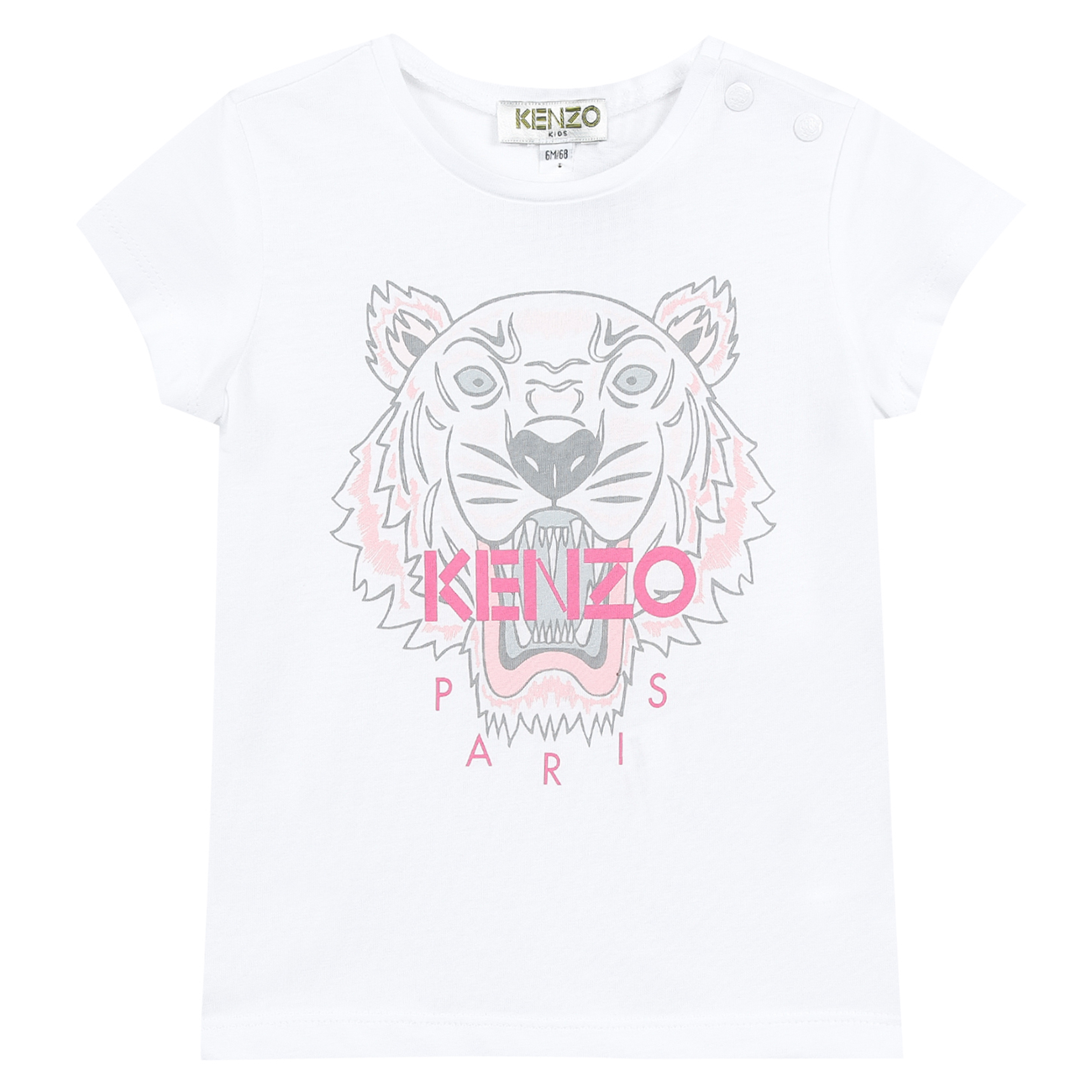 Kenzo Tiger Tee Shirt Optic White