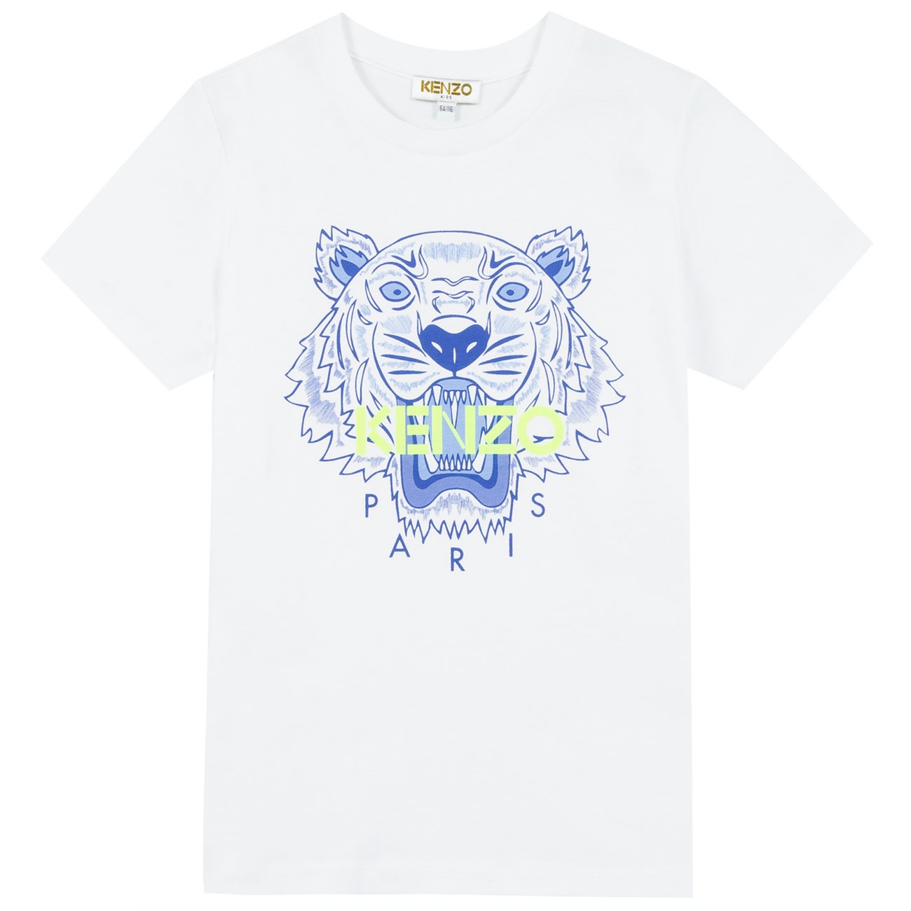 Kenzo Tiger T shirt Optic White