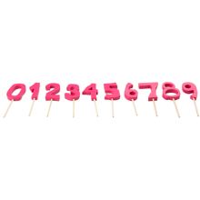 Kids by Friis Birthday Cake Numbers Pink