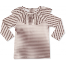 Konges Sløjd Soleil Striped Bordeaux/Nature Girls UV Tee LS