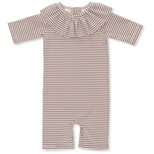 Konges Sløjd Soleil Striped Bordeaux/Nature Girls UV Suit