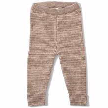 Konges Sløjd Wool Meo Pants Paloma Brown/Creamy White