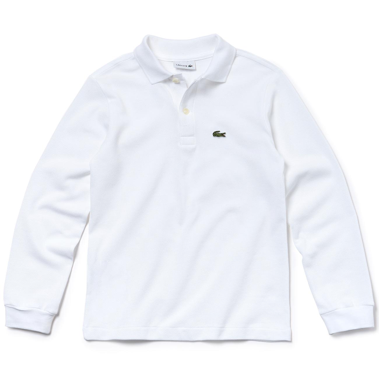 Bestellung wo zu kaufen großhandel online Lacoste Polo Tee L/S Blanc