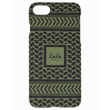 Lala Berlin Cover iPhone Kufiya Cypress/Black Scribbled