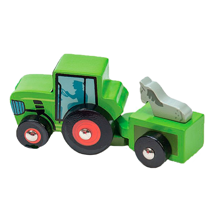 Le Toy Van Tractor Trails Green