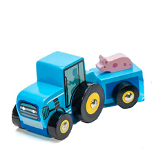 Le Toy Van Tractor Trails Blue