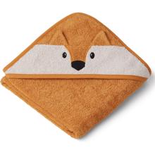 Liewood Albert Hooded Towel Fox Mustard