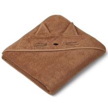 Liewood Augusta Hooded Towel Cat Terracotta