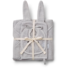 Liewood Adele Terry Baby Package Rabbit Dumbo Grey