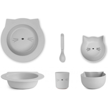 Liewood Barbara Bamboo Baby Set Cat Dumbo Grey