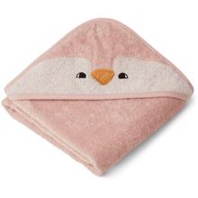 Liewood Albert Hooded Towel Penguin Rose