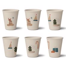 Liewood Gertrud Bamboo Cups 6-pack Holiday Mix