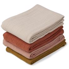 Liewood Leon Muslin Cloth 4 pack Rose Multi Mix
