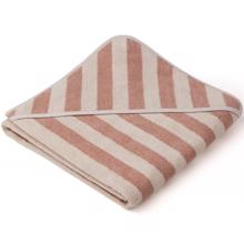 Liewood Louie Towel Stripe Rose/Sandy