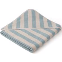 Liewood Louie Towel Stripe Sea Blue/Sandy