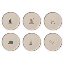Liewood Patrick Bamboo Plates 6-pack Holiday Mix