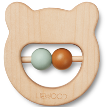 Liewood Ivalu Wood Teethers Mr Bear Neutral