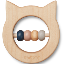 Liewood Ivalu Wood Teethers Cat Neutral