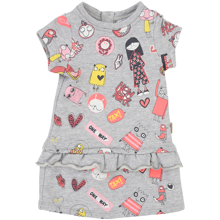 Little Marc Jacobs Baby Girl Dress Grey Marl