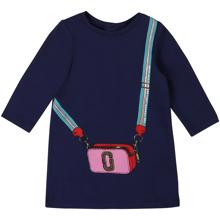 Little Marc Jacobs Baby Girl Medieval Blue Dress