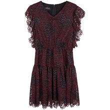Little Remix Veronica Ruffle Dress Burbundy