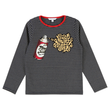 Little Marc Jacobs Girl Long Sleeved T-shirt Blue Stone