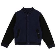 Little Marc Jacobs Boy Knitted Cardigan Blue Navy/Black
