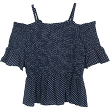Little Remix Rion Dot Smock Navy W. White Dots