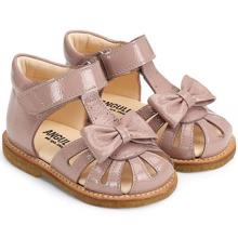 Angulus Sandal w. Bow and Velcro Rose