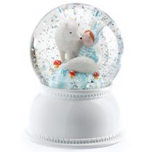 Djeco Snow Globe w. Light Lila and Pupi Snow Wolf