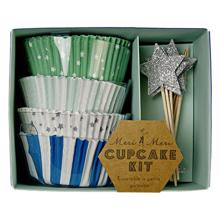 Meri Meri Cupcake Kit (blue) 48 pcs