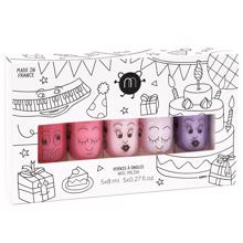 Nailmatic Nail Polish Water-based 5 Pack Party 5 (kitty ,cookie, bella, polly, piglou)
