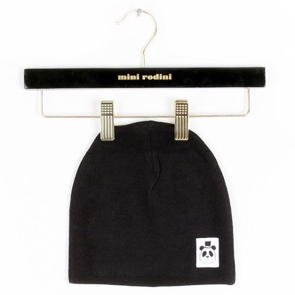 Mini Rodini Basic Black Beanie