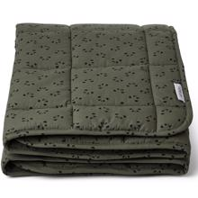 Liewood Ebbe Quilted Blanket Panda Hunter Green