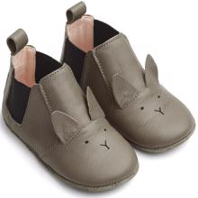 Liewood Edith Leather Slippers Rabbit Grey