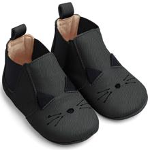 Liewood Edith Leather Slippers Cat Black