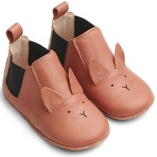Liewood Edith Leather Slippers Rabbit Tuscany Rose