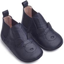 Liewood Edith Leather Slippers Mr. Bear Navy