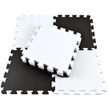 Magni Floor Mat Puzzle White/Black 10 Pieces