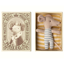 Maileg Baby Mouse Sleepy/Wakey In Box Boy